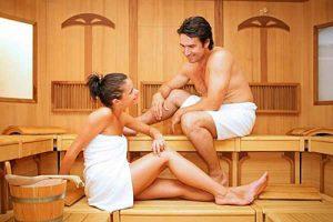 liên kết thư giãn và làm xinh xắn da bằng cách xông hơi tại ngôi nhà